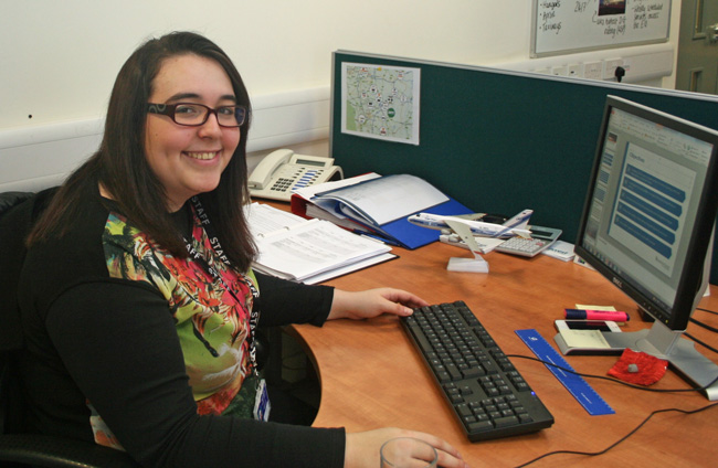 Doncaster born Amira El-Khrouf, aged 20, is undertaking an 11 month work placement at the airport