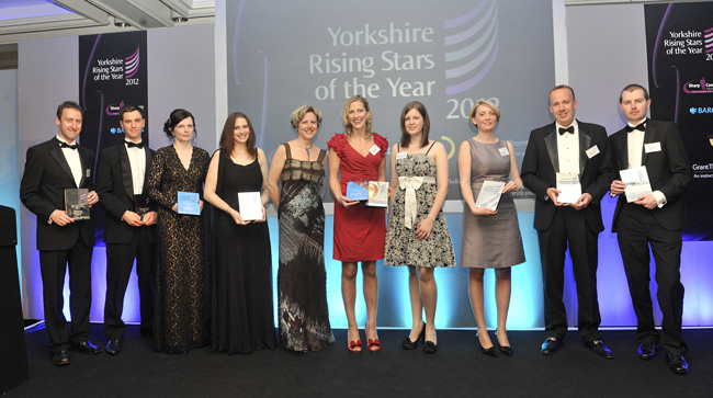 Yorkshire Rising Stars Awards winners line up 2012