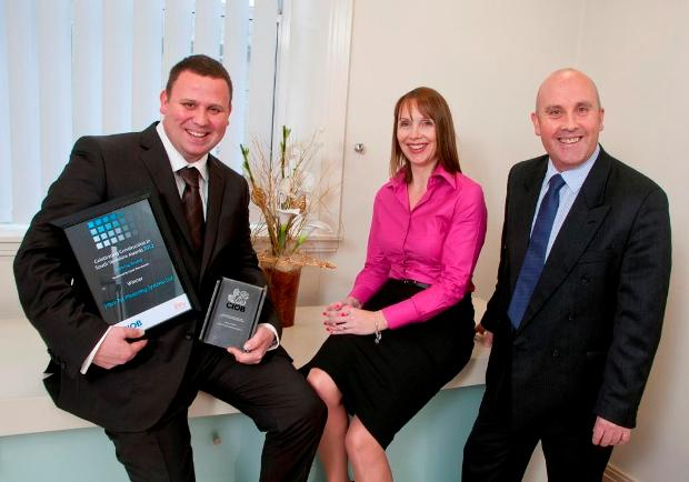 L-R Mark Rice (Plas Tec), Charlotte Jackson (Lloyds TSB Commercial Finance relationship manager) and Gary Males (Lloyds TSB Commercial Banking regional manager)