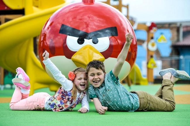 Children enjoying the Angry Birds Activity Park c. Simon Dewhurst