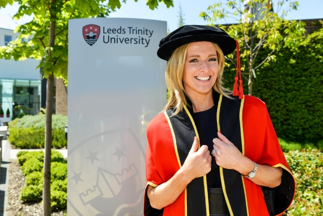 New Leeds Trinity University Chancellor Gabby Logan (2)