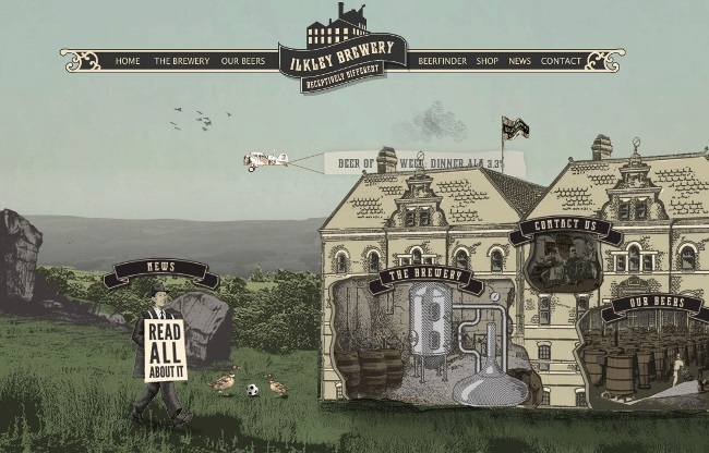 Ilkley Brewery's new website