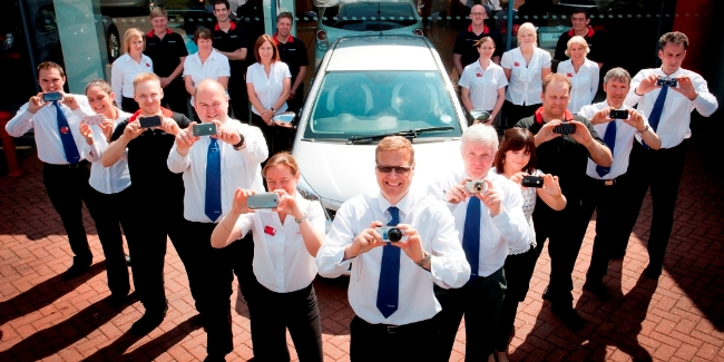 Vantage Motor Group staff at the knaresborough head office