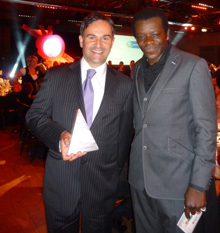 Caravan Guard - Stephen K Amos gives local company Award