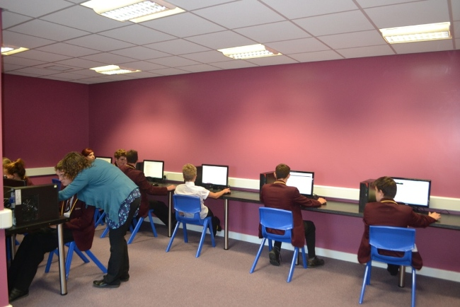 Pupils at The Purston E-Act Academy