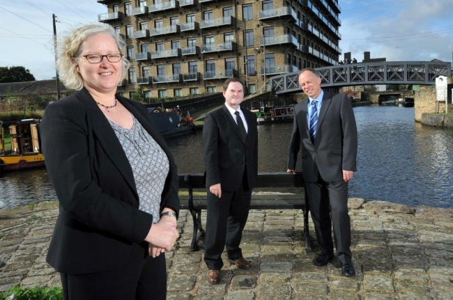 L-R Maureen Cawthorn, Richard Smithies and Andrew Crabtree, pictured in Brighouse ( small landscape)