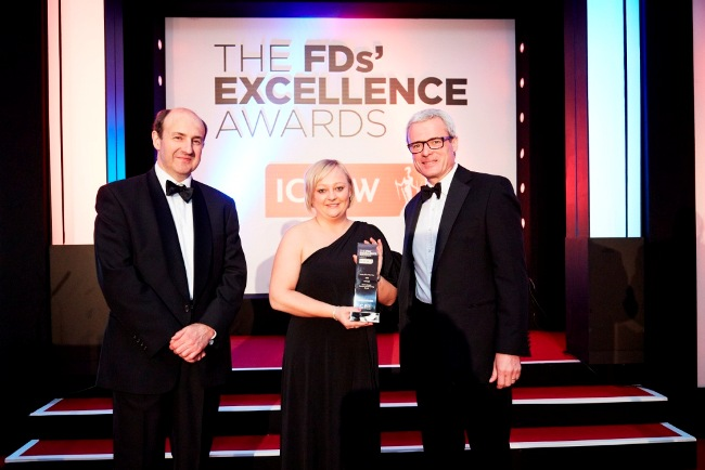 L-R Michael Izza from ICAEW, Marie Cooper from President Engineering, Mark Stokes from Lloyds Banking Group