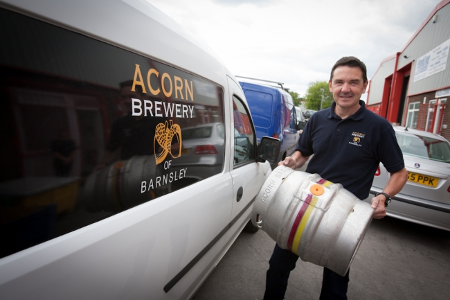 David Broadhead outside Acorn Brewery 2