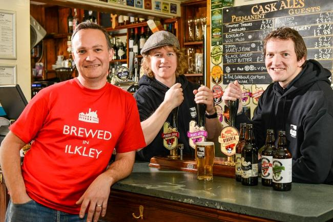 Left to right_Chris Ives, Luke Raven and Richard Shelton from Ilkley Brewery