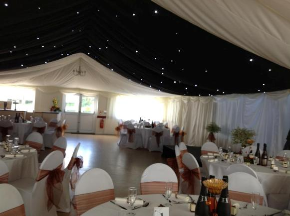 Skipsea Village Hall lined out by Village Farm Marquees