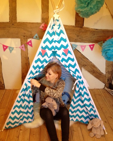 Alice Colligan and teepee