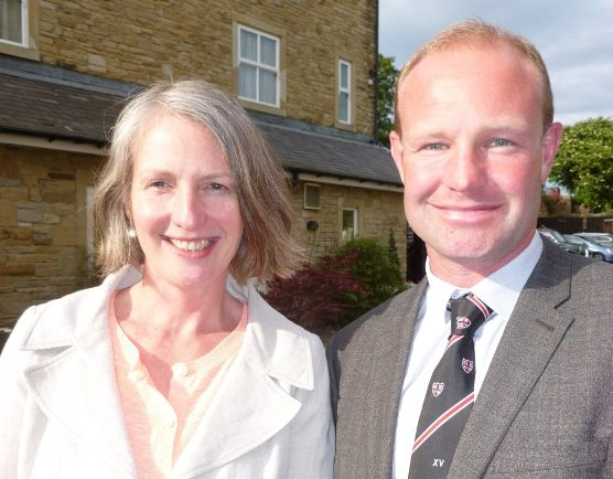 New Skipton BID chairman Andrew Mear with new BID manager Mary Arber