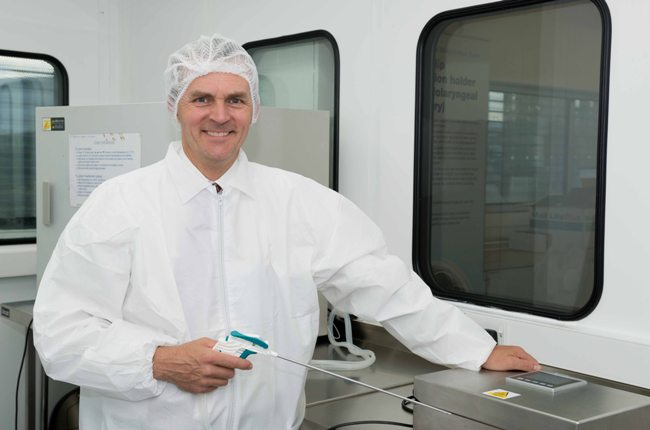 Matthew Tully in cleanroom