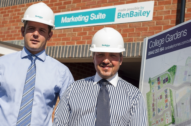 Ben Bailey Homes' newly appointed area construction manager, Andy Gladwin, and contracts manager Aaron Stocks