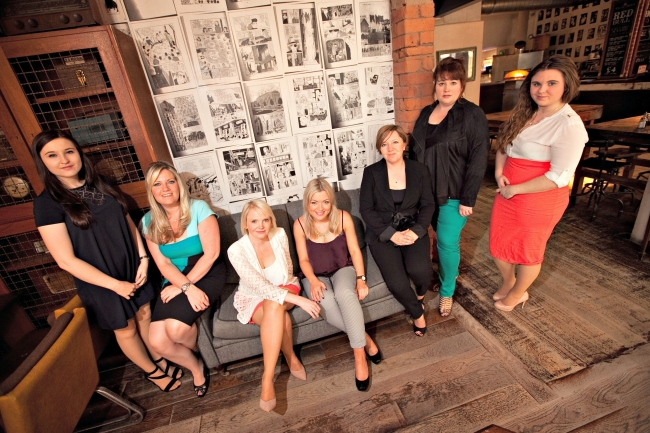 The Cream team (left to right) Holly Worsely, Donna Bedford, Elizabeth Hudson, Emma Kemmery, Jane Whitham, Lucy Ashton and Chloe Staniforth.