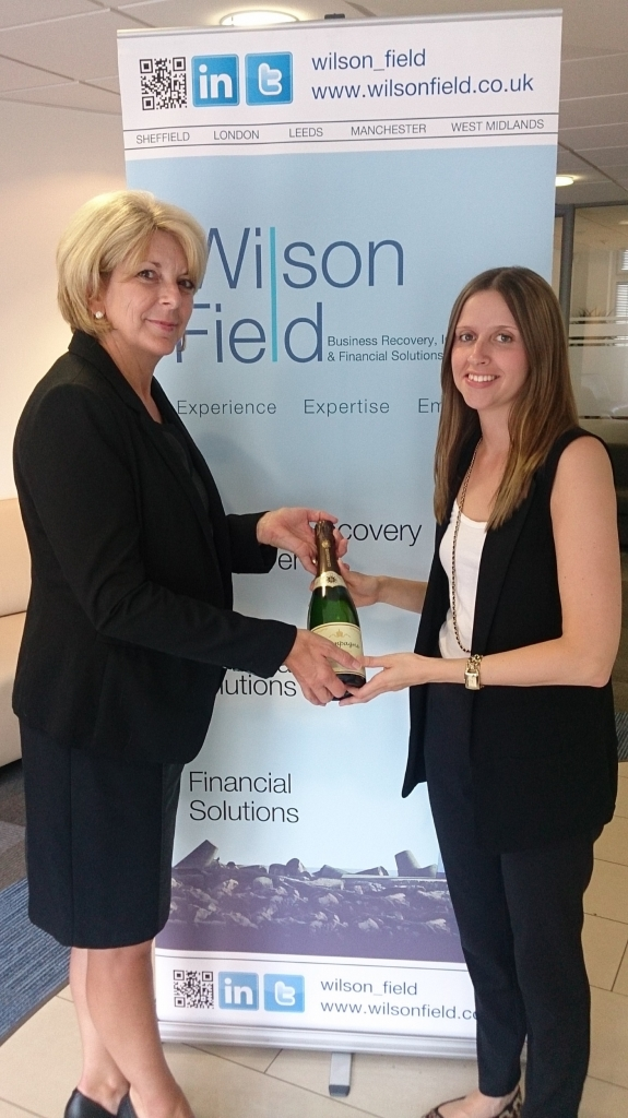 Country's number one - Julie Fantom congratulates Debbie Wing at Wilson Field
