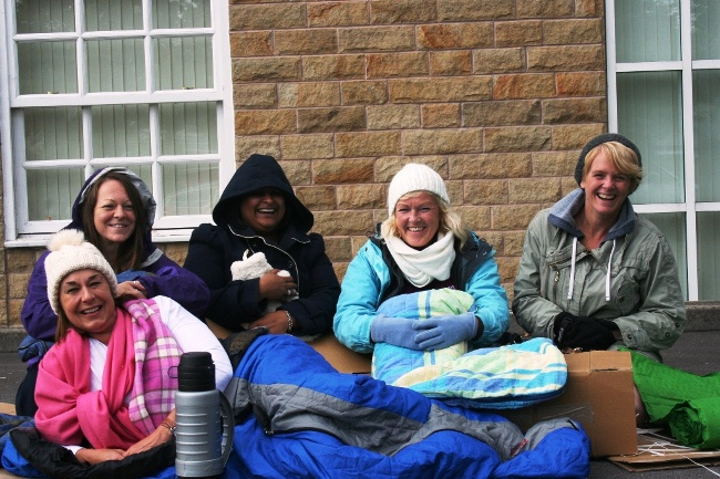 Kecyare team sleeps rough for Simon on the Streets