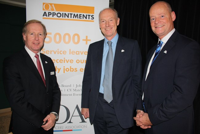 The Officers' Association's CEO Lee Holloway Chairman Dominic Fisher and head of the new Leeds office David Barrett