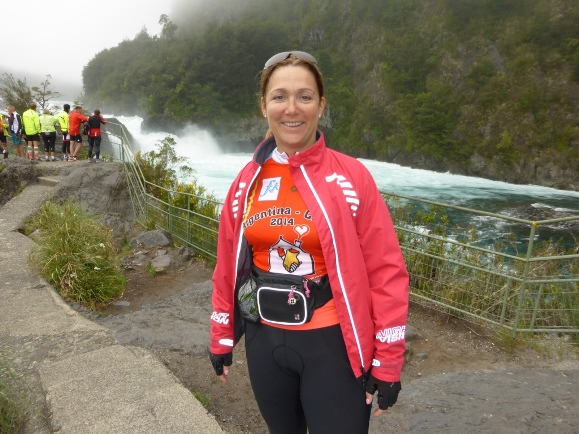 Anne Wainwright McDonald's on her Argentina to Chile cycle ride for Ronald McDonald Houses