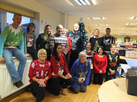 Leo Group Employees Supporting Christmas Jumper Day