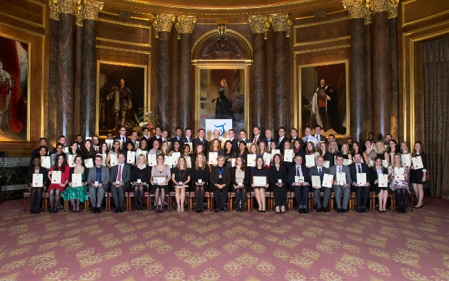 New CTA members at the admission ceremony at Drapers' Hall