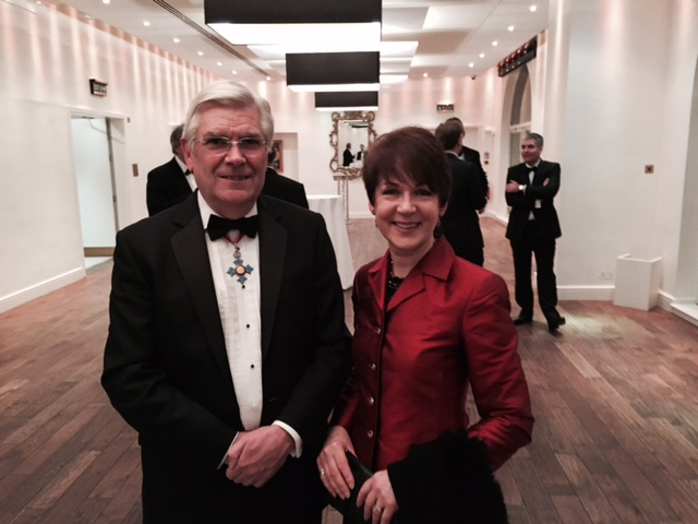Di with Hugh Colver CBE at the Guild of Public Relations Homecoming Banquet in London