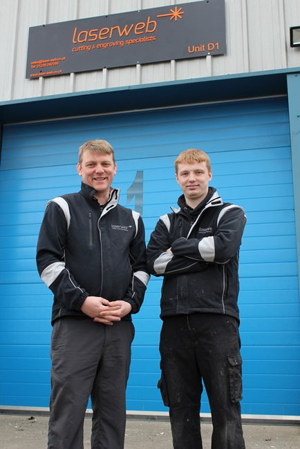 Earl and Daniel Holdsworth of Laser Web