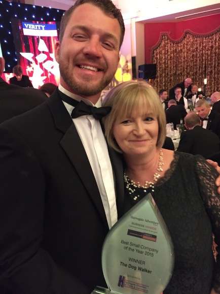 The Dog Walker won Best Small Company at the Harrogate Business Awards