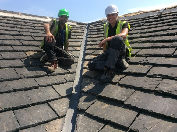 Scott Noone Heritage Roofer Oliver Stocks Apprentice