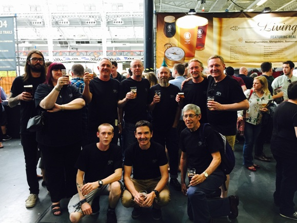 Acorn Brewery team at the Great British Beer Festival