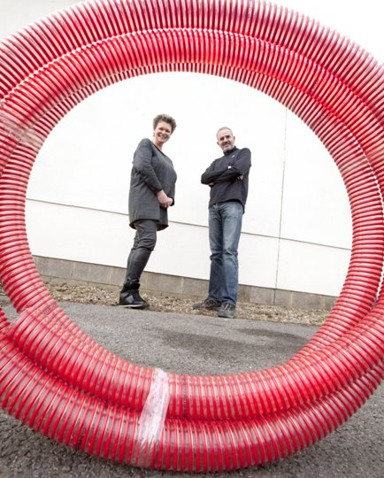 Michael & Kate Wright red pipe