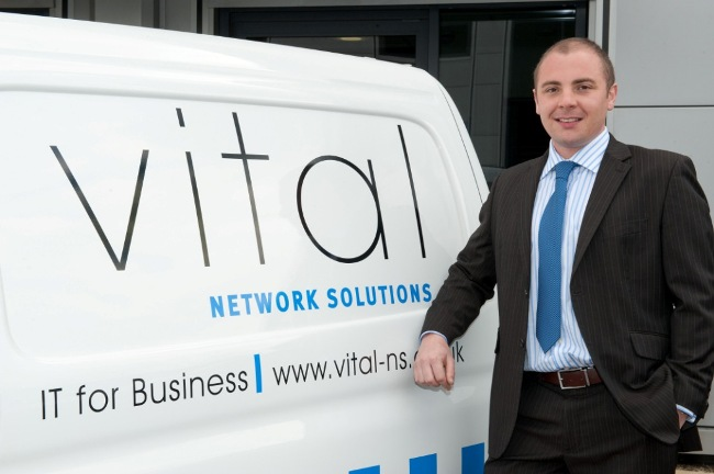 Lee Evans, MD of Vital Network Solutions. Pic copyright Tim Hardy Photography