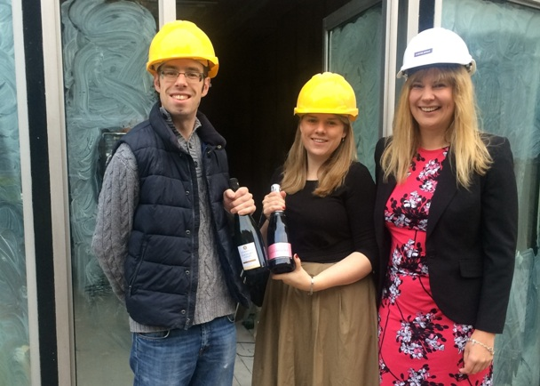 Kim Eastwood of Carter Jonas with Laurence and Gemma Page-Connolly of The Champagne Concept