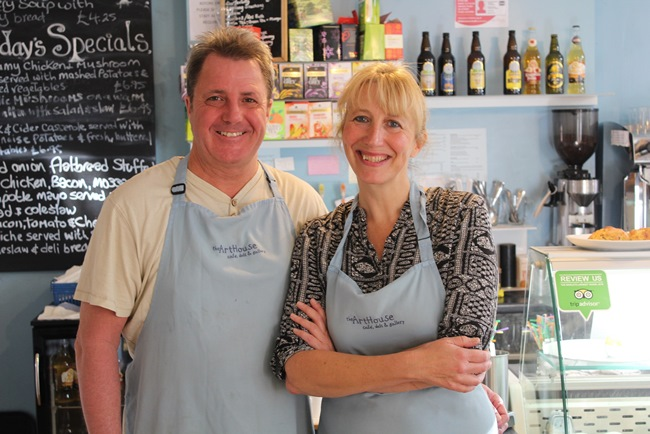 Paul Winterburn and Jane Dunning of Arthouse Cafe