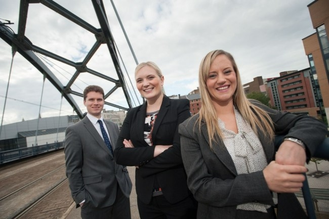 Member of the litigation and dispute resolution team at hlw Keeble Hawson. L-R: Tom Freeman, Charlotte Ollerenshaw and Stacie Hurt.