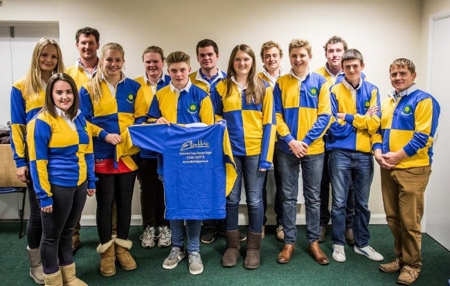 Members of Brandesburton YFC with their new rugy shirts