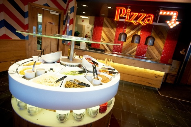 Newly re-furbished Pizza Hut Restaurant at the Meadowhall Retail Park in Sheffield.