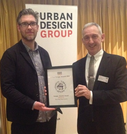 IBI Group's Seamus Lennon and Marcus Wilshere with the Urban Design Group Practice Award