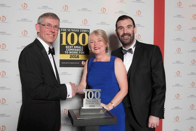 Storming success - Glenn Dimelow, Head of Research & Compliance in Best Companies, Liz Slater and Adam Walsh