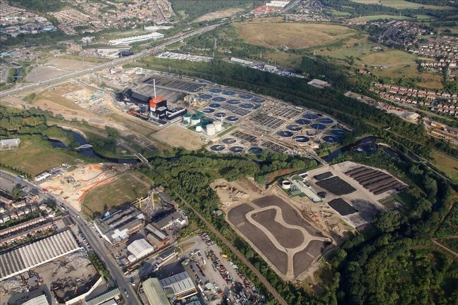 Blackburn Meadows Waste Water Treatment Works in Sheffield is located opposite Meadowhall