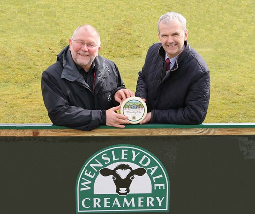 Chairman of The Dales Festival of Food & Drink, Colin Toogood, with David Hartley, Managing Director of the Wensleydale Creamery