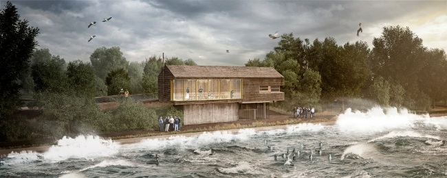 Bird Hide at Tophill Low CGI. Credit Group Ginger