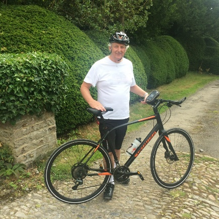 Nicholas Radford, Chairman of the Nathan Furniture Group - Preparing for the Furniture Makers Company Charity bike ride