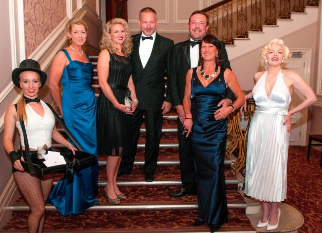 Hollywood Bliss ball at the Majestic hotel Harrogate organised by the Rainbow fund