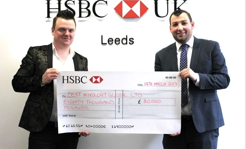 Murdo MacLeod and Andrew Bennett, HSBC's area director of West and South Yorkshire