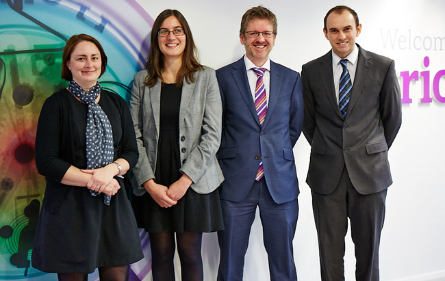 Esther Kirwan; Sophia Constantindis; Leigh Martin; and Paul Bicknell of Clarion's IP team