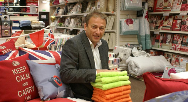20 Years Of Success! Yorkshire Linen Co owner Ross Leventhal inside one of his stores