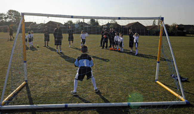 A previous Rovers training session at Kingfisher Primary School