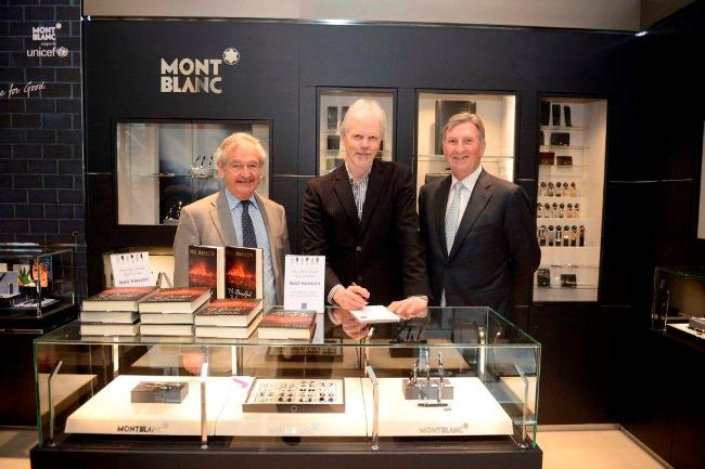 Author Neil Hanson -centre- with The Pen Shop chairman, Richard Allan -left- and Managing Director, Colin McClymont -right- at new store opening_2