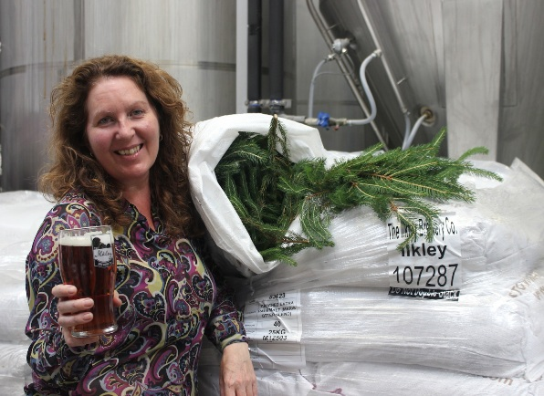 Jane Peyton helped create the Norseman with Ilkley Brewery copy